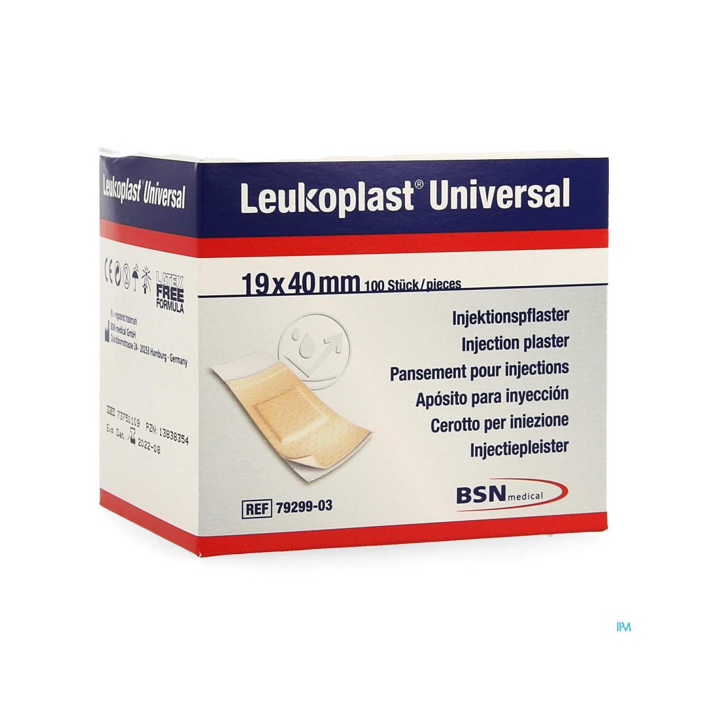 Leukoplast universal injection - 19 x 40 mm - rol (100 pcs)