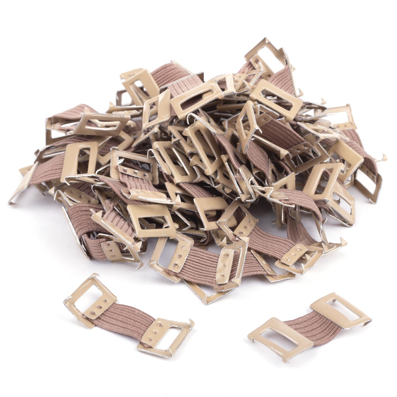 Crochets à bandage - marron (100 pcs)