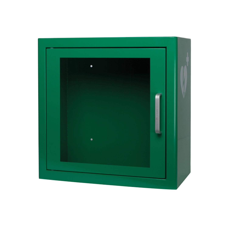 Armoire DAE p. intérieur défibrillateur Heartsine - verte