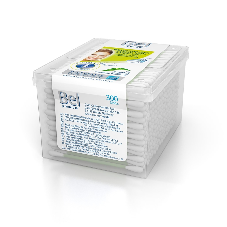 Bel cotton-tiges premium (300 pcs)