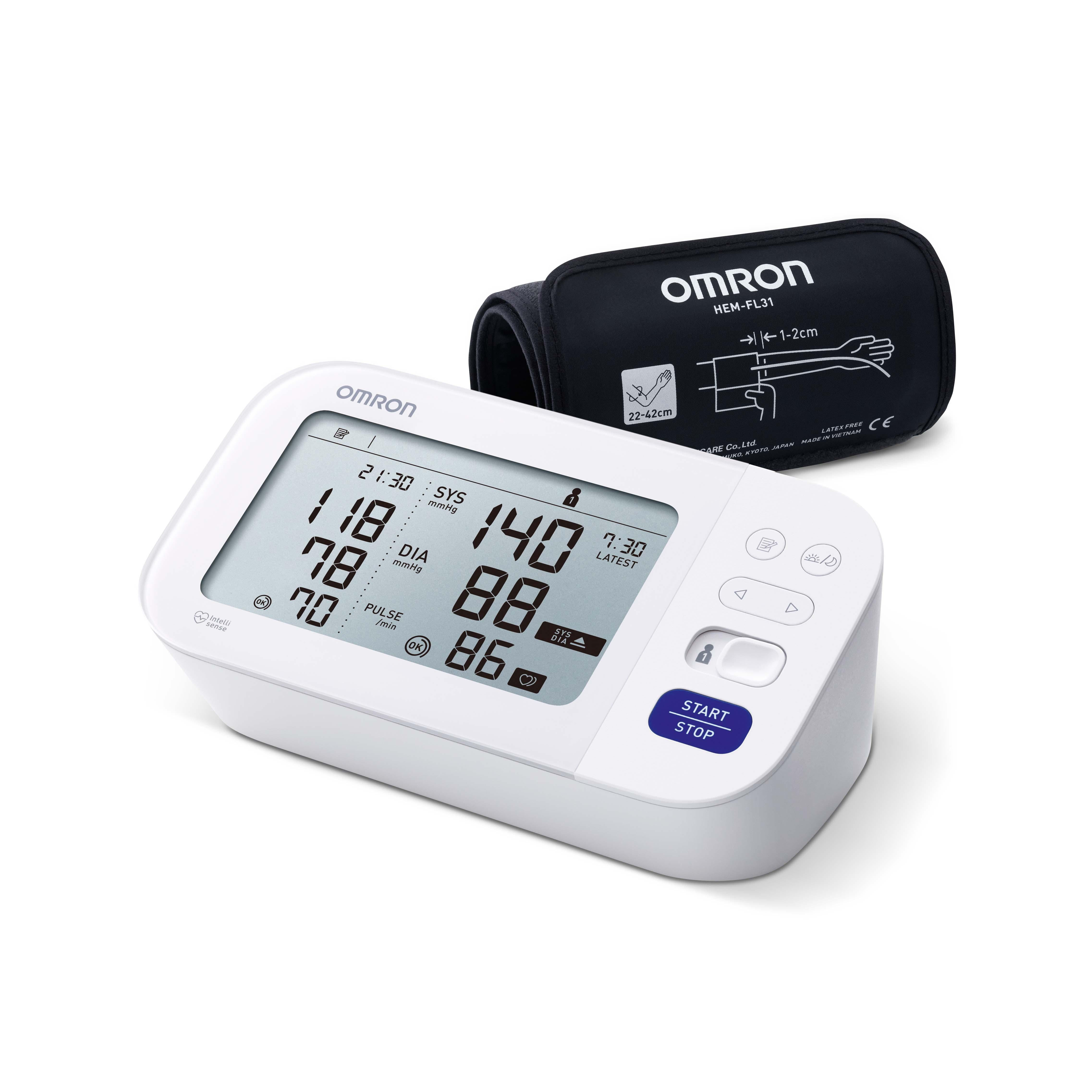 Omron tensiomètre M6 Comfort - automatique - blanc