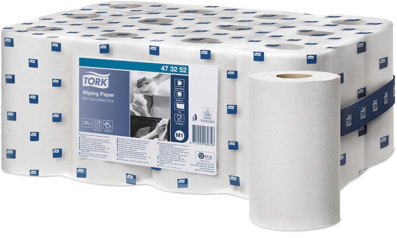 Tork papier basic M1 mini 1 pli -roul. 21,5 cm x 120 m. (12 roul.)