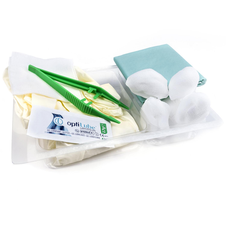 MediSet set de sondage: champs stérile + 5 tampons + pince + gants + lubrifiant