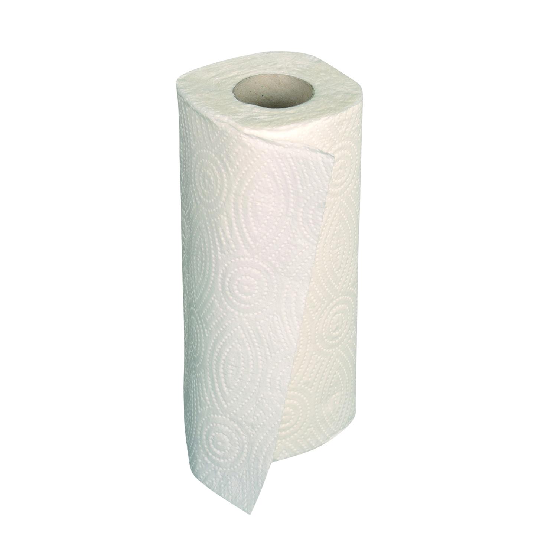 Essuie-tout papier gaufré 2 couches - rouleau - blanc (32 pcs)
