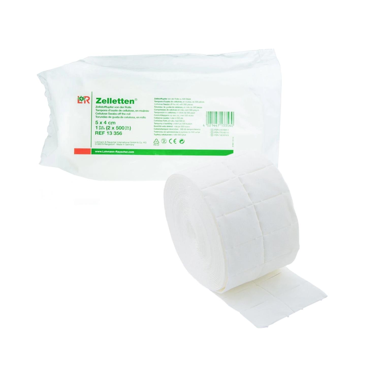 Zelletten tampon en rouleau - 5 x 4 (2 x500 pcs)