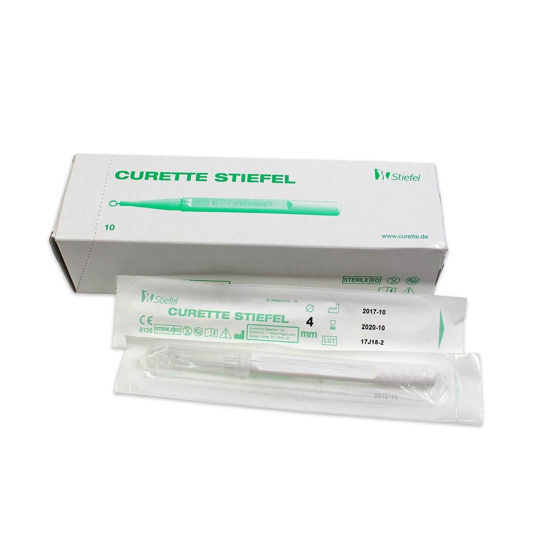 Curette Stiefel - 4 mm (10 pcs)