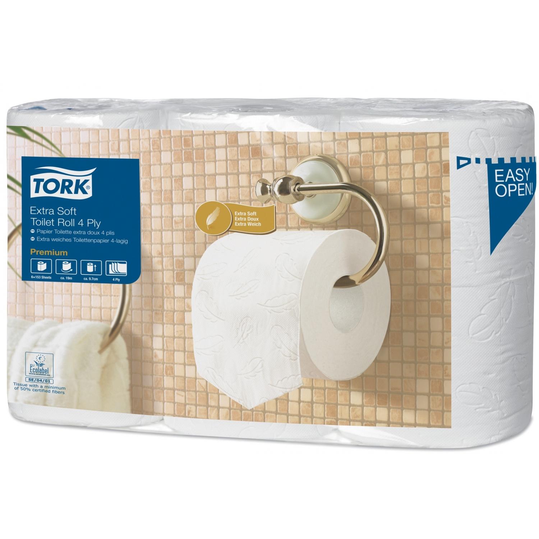Tork rouleaux papier de toilette - premium extra doux (7 x 6 rl)