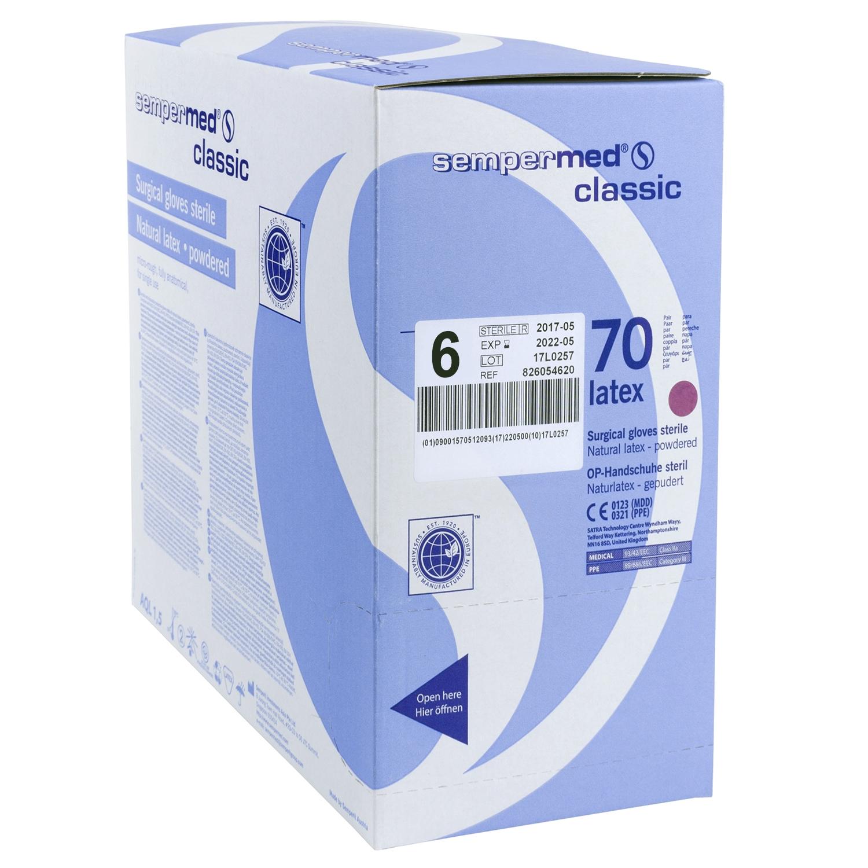 Sempermed gants latex poudrés stériles (70 paires)