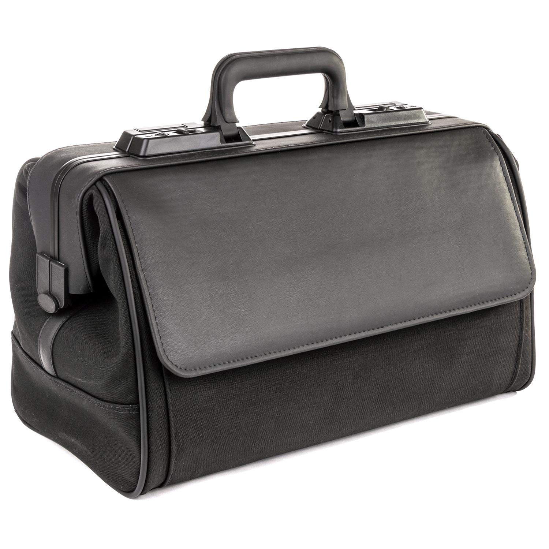 Rusticana grand sac médecin en nylon avec 2 pochettes - noir