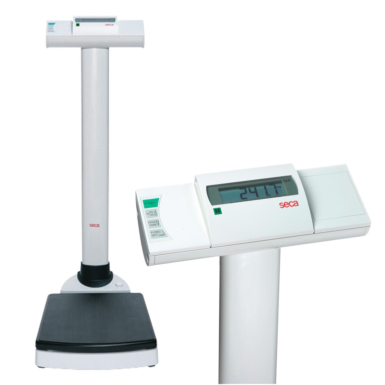 Seca 704 Balance à colonne numérique sans fil avec fonction BMI - calibré