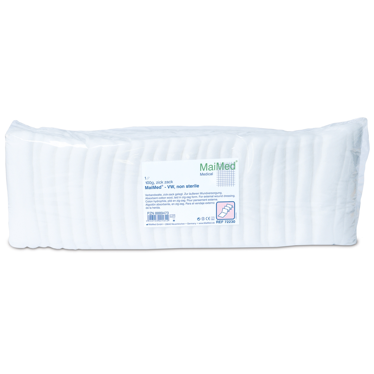 Ouate zig zag coton - 100 g