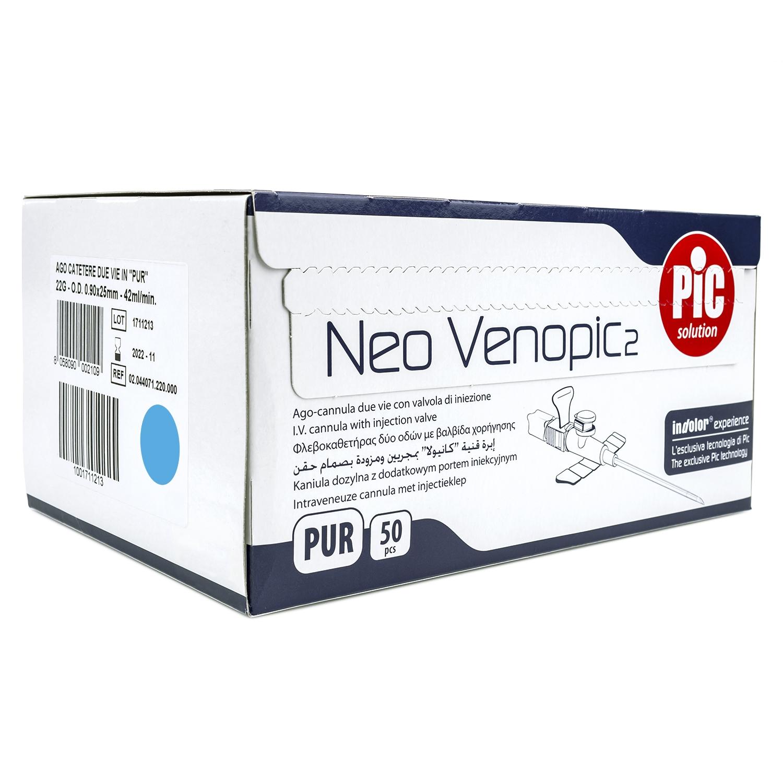 Venopic - 22 g - bleu (50 pcs)
