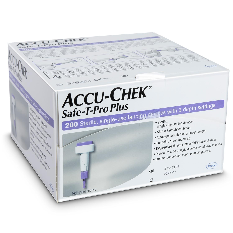 Accu-Chek safe-t-pro plus lancettes (200 pcs)