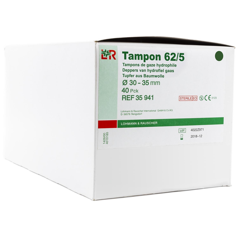 Tampon de gaze hydrophile - 30 à 35 mm (40 pcs)