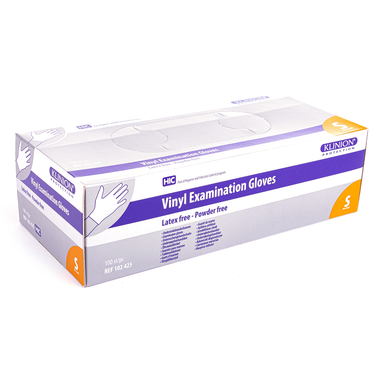 Klinion gants vinyl - sans poudre (100 pcs)
