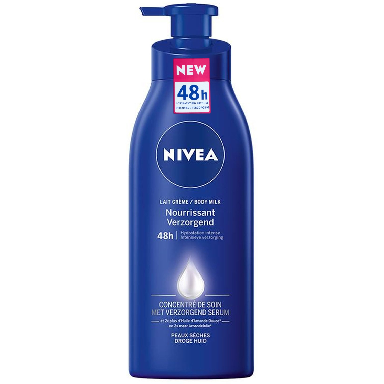Nivea body milk - peau sèche/sensible - soignant - flacon avec pompe 400 ml