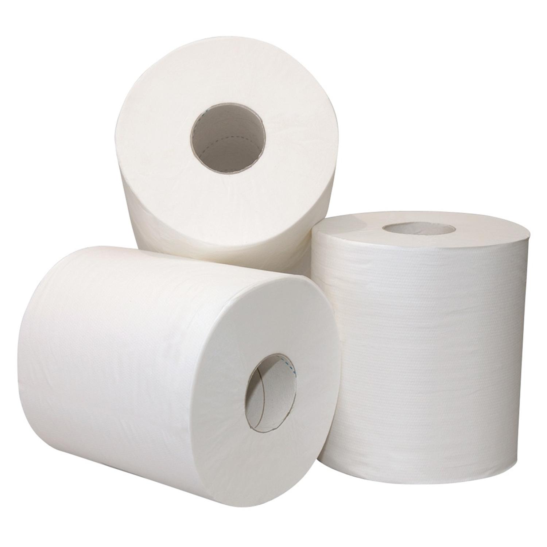 Papier de toilette 2 couches - 200 feuilles x 10 cm - blanc (48 rl.)