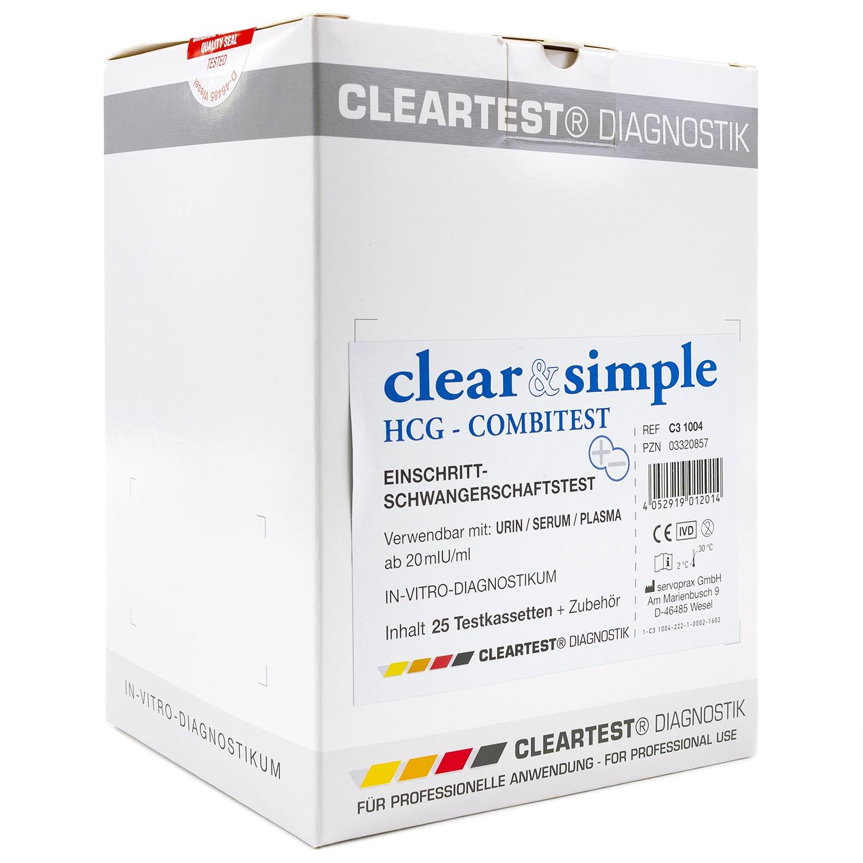 Clear & Simple HCG Combitest (25 pcs)