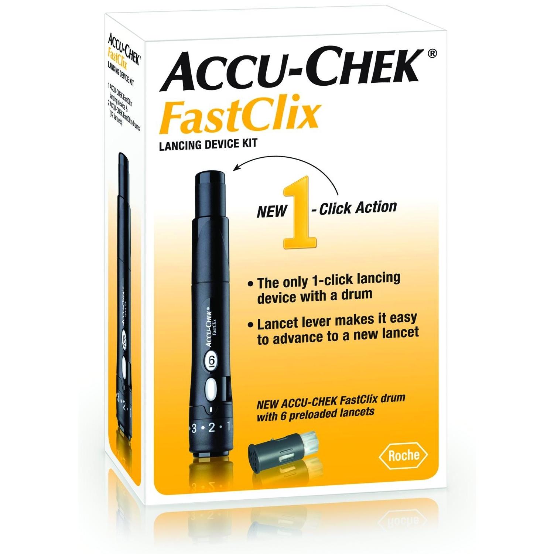 Accu-Chek FastClix Stylo autopiqueur avec 6 lancettes