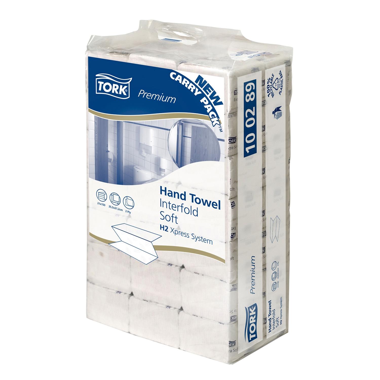 TORK serviettes papier H2 - feuilles 2 couches - carton (21 x 150 feuil.)