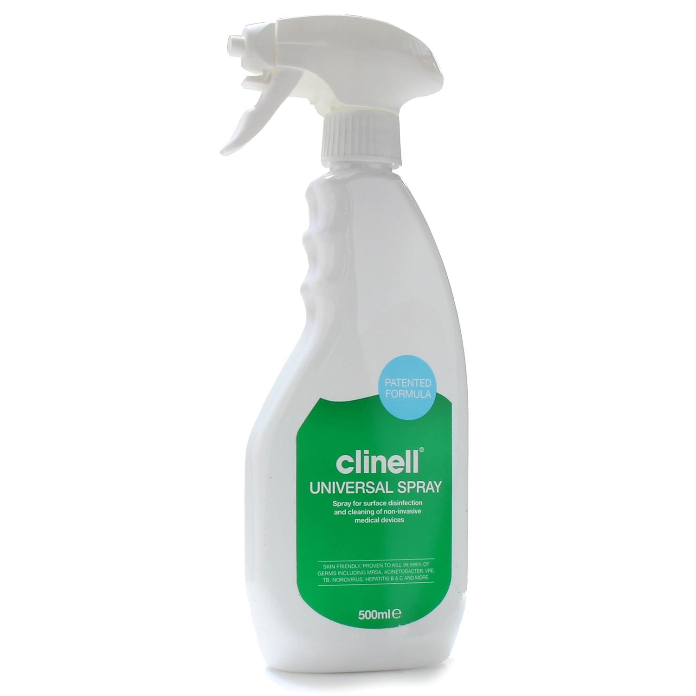 Clinell Universal spray-mousse - sans alcool - désinfectant surfaces médicales - 500 ml