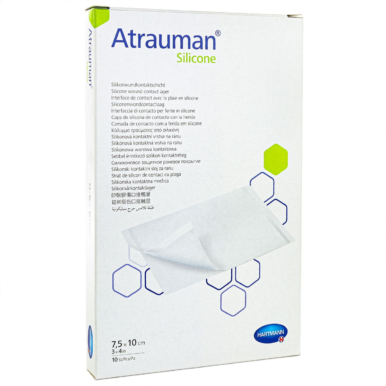 Atraumann silicone - stérile - 7,5 x 10 cm (10 pcs)