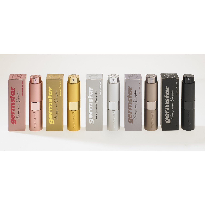 Germstar Luxe désinfectant mains 70% - set (spray de poche + recharge) - 133 ml