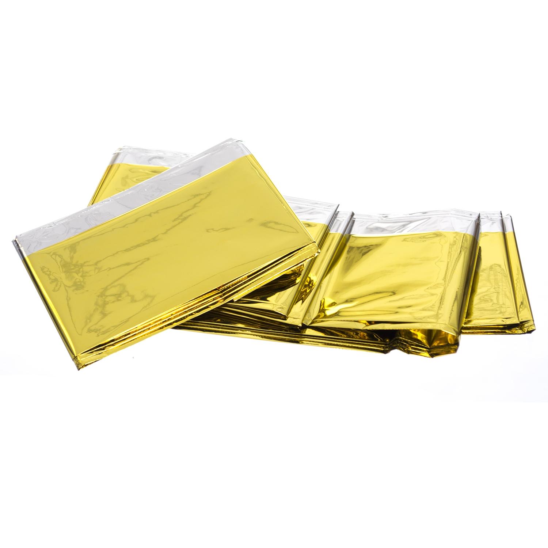 Couverture de sauvetage en papier d'aluminium - argent-or