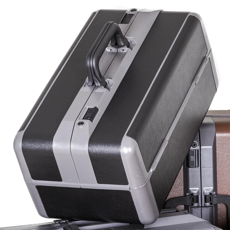 Idéal sacoche de docteur  imitation cuir - fond 18 cm - noir