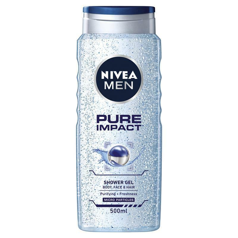 Nivea men Pure impact shower gel - 500 ml