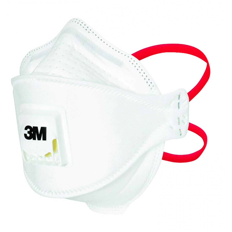 Masque buccal 3M FFP3 - élastiques tête - AVEC ventilation (10 pcs)