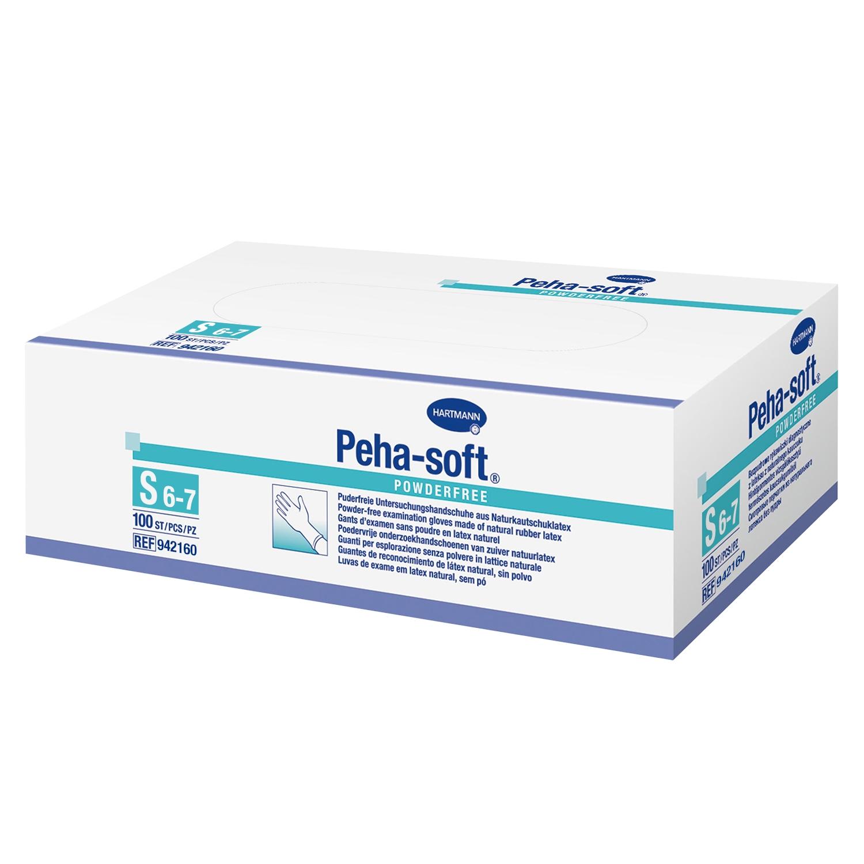 Handschoen Peha-Soft latex poedervrij (100 st)