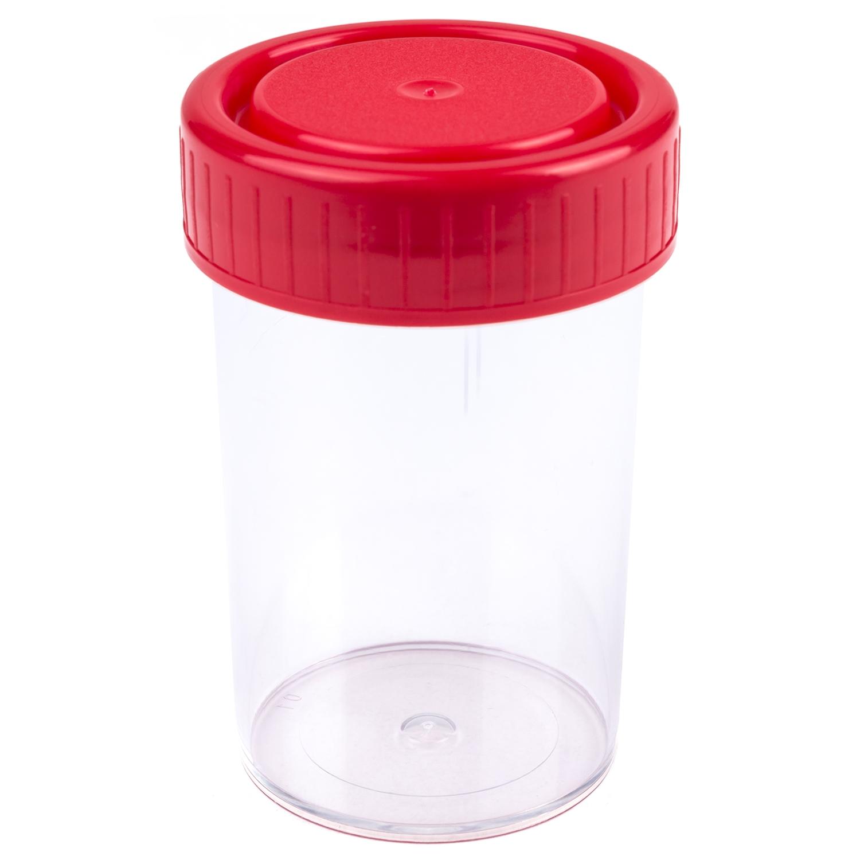 Container gamma gesteriliseerd + schroefdop - 60 cc