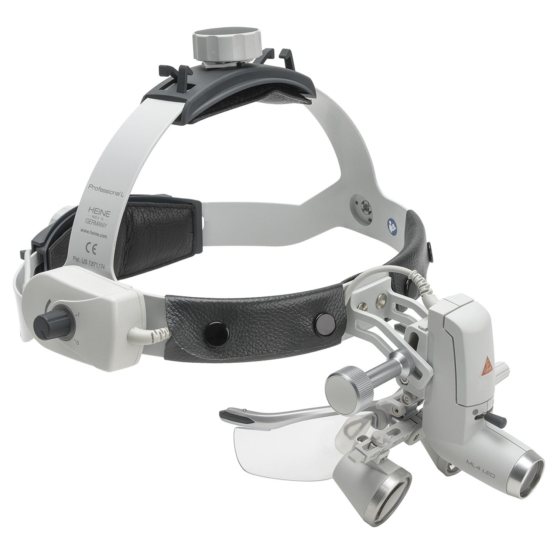 Heine ML 4 LED hoofdlamp + HR Binocular Loupe 2.5x 42 cm werkafstand + mPack