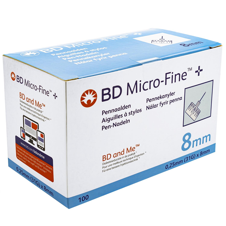 Micro-fine pennaald - 31 G x 8 mm (100 st)