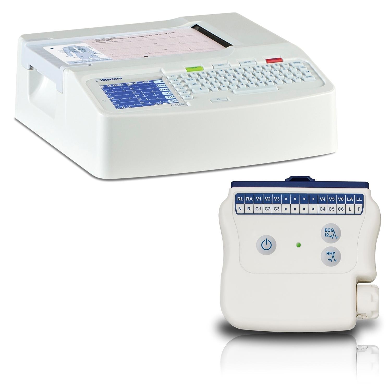 ECG Mortara ELI150c met draadloze patiëntenkabel