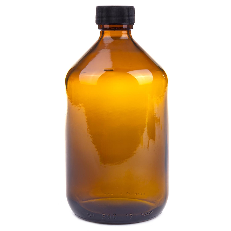 Fles uitwendig gebruik - 500 ml - bruin
