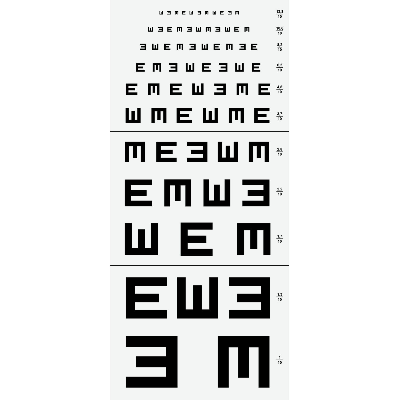 "Leeskaart Armaignac Type ""E"" op 5 m"