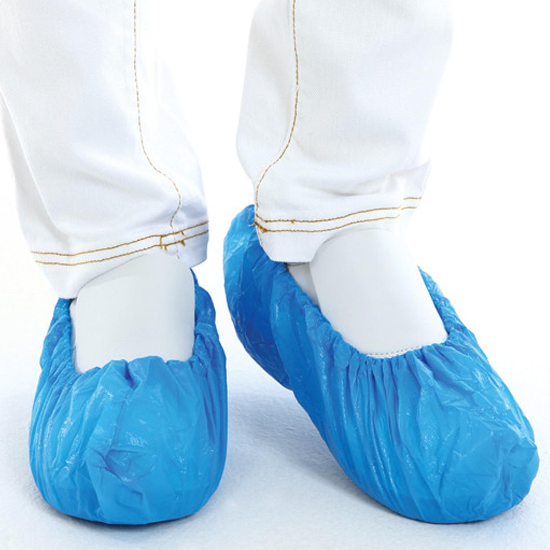 Schoenovertrek PE - blauw (100 st)