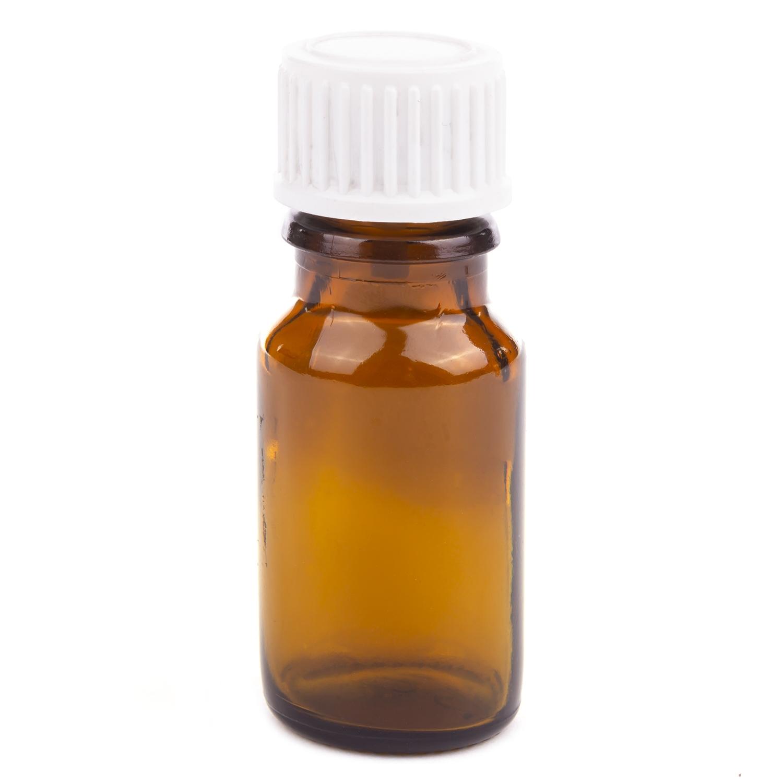 All-round fles met dop - 10 ml - bruin