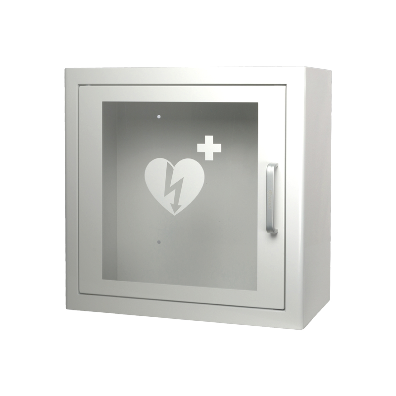 AED kast binnenshuis Heartsine defibrillator - wit