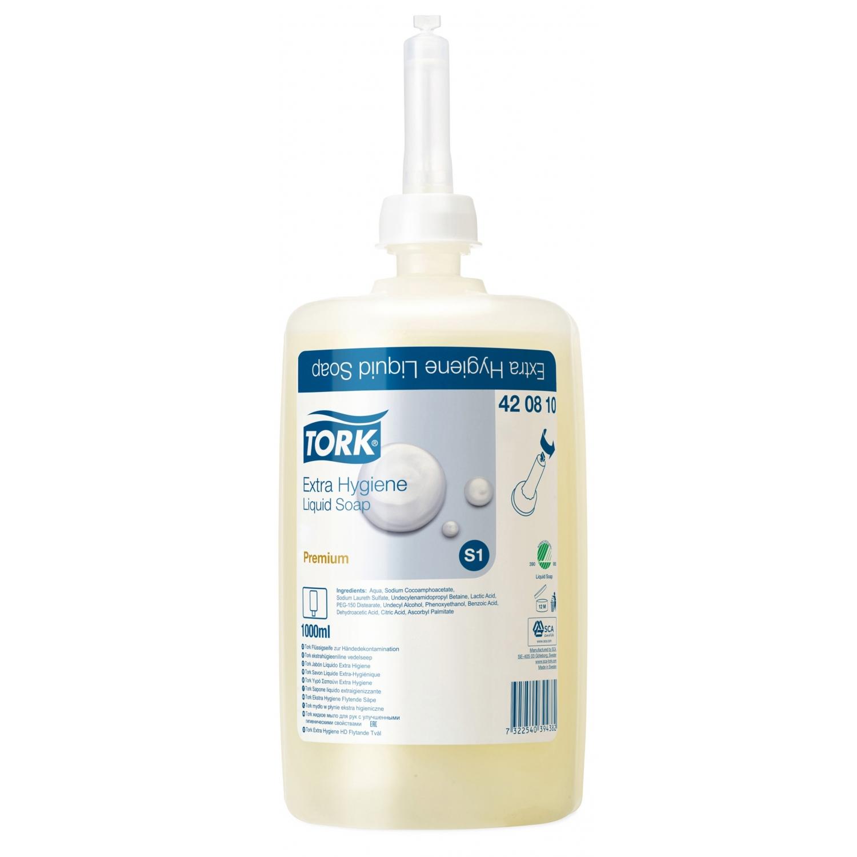 TORK zeepvulling S1 extra hygiëne antibacterieel - 1 l