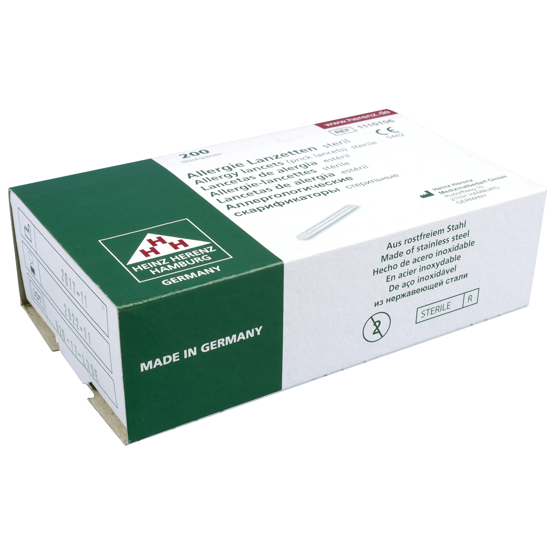 Bloedlancetten allergie steriel (200 st)