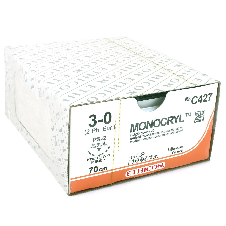Monocryl - 45 cm - ongekleurd (36 st)