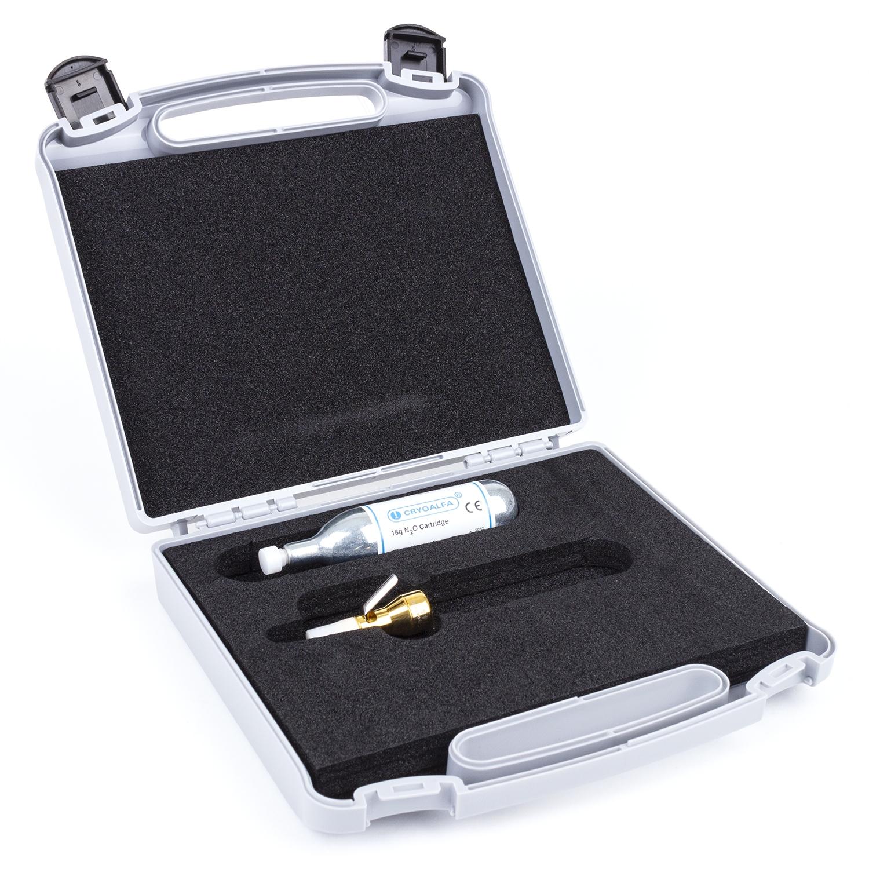 CryoAlfa super toestel met 5 mm tip + 16 g patroon + koffer