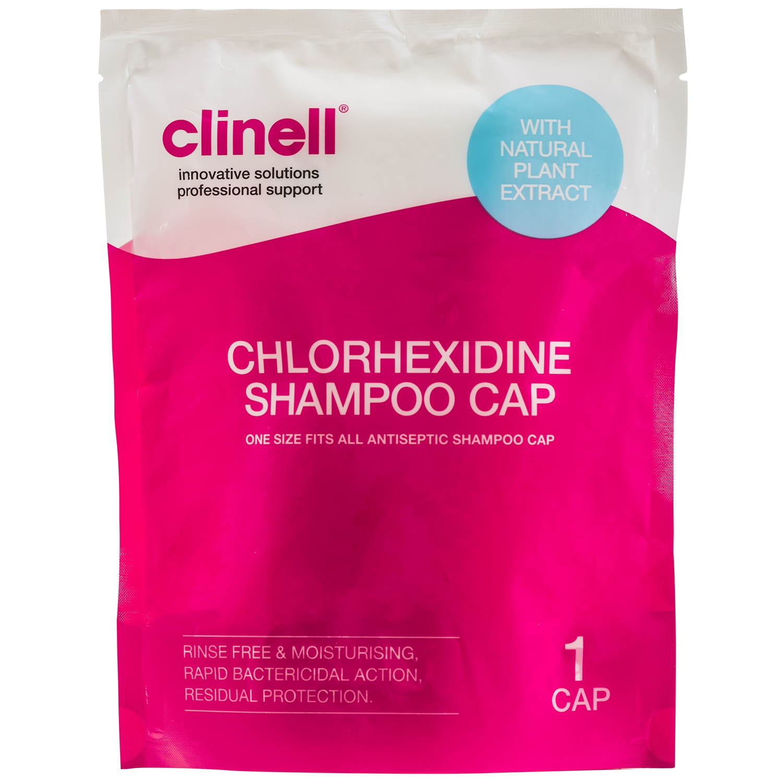 Clinell shampoo kap eenmalig gebruik - 2% chloorhexidine