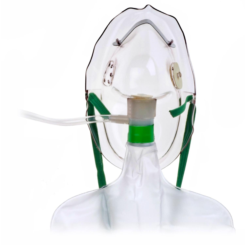 O2-masker volwassene met reserve - 213 cm