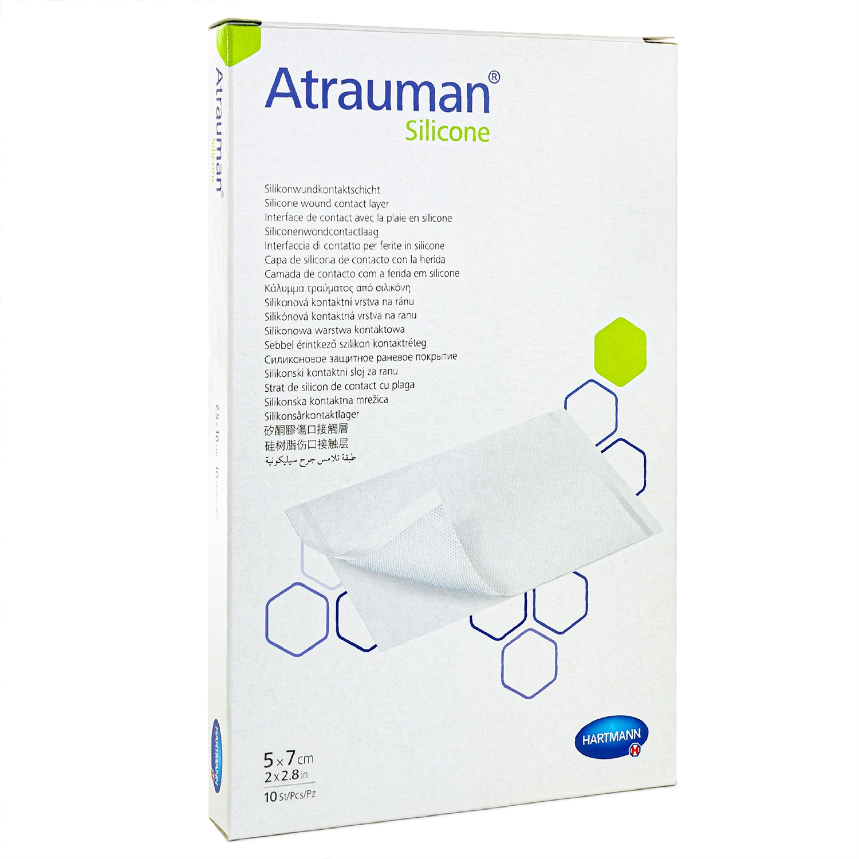 Atraumann silicone - steriel - 5 x 7 cm (10 st)