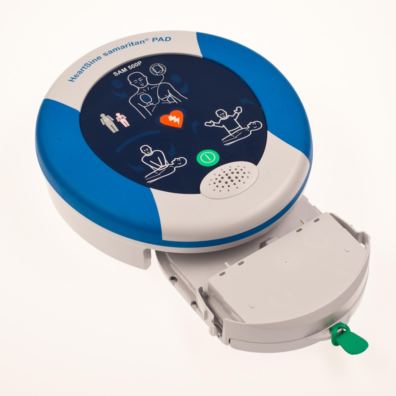AED batterij + elektrodes v. Heartsine 350P/500P - volwassenen