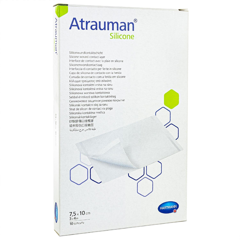 Atraumann silicone - steriel - 7,5 x 10 cm (10 st)